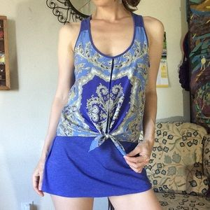 Anthropologie Tops - SOLD Anthropologie Leifnotes Ocean Blue Paisley